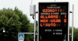 Una cappa di ozono avvolge la Lombardia