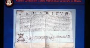 Recuperate 277 antiche pergamene rubate