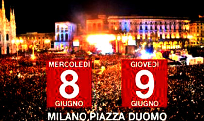 8 e 9 giugno grande apertura in Piazza del Duomo con i due concerti di Radio Italia Live