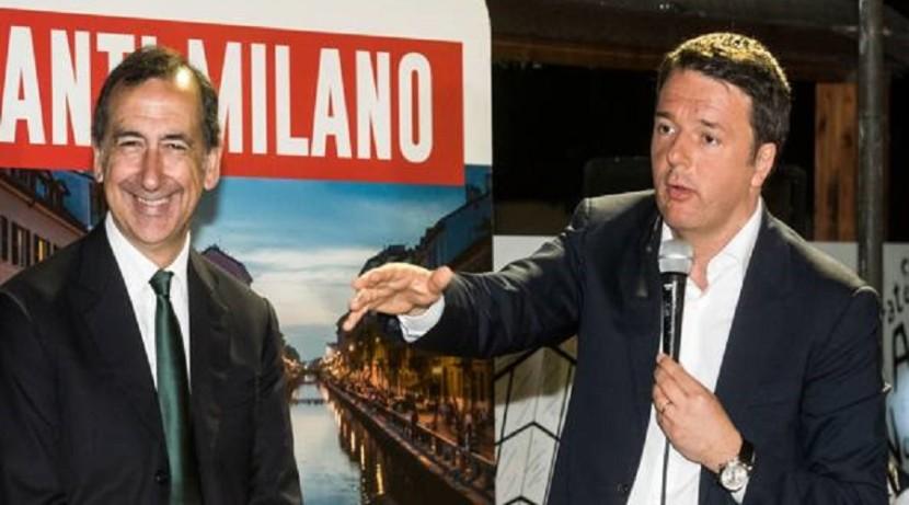 Sala non funziona, Renzi la butta in politica per non perdere Milano