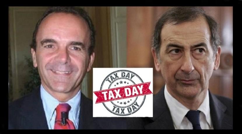 TAX DAY, la vera liberazione di Milano sarà il 19 Giugno!!! In cinque anni 3 miliardi di tasse in più!!