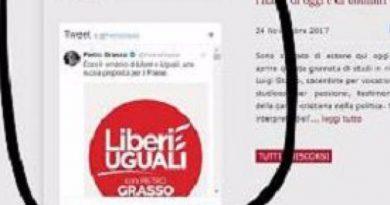 Nel sito del Senato spunta il simbolo di Liberi e Uguali: un modo gratuito di Grasso per pubblicizzare la propria lista