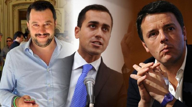 Risultati immagini per Di Maio, Salvini, Renzi immagini