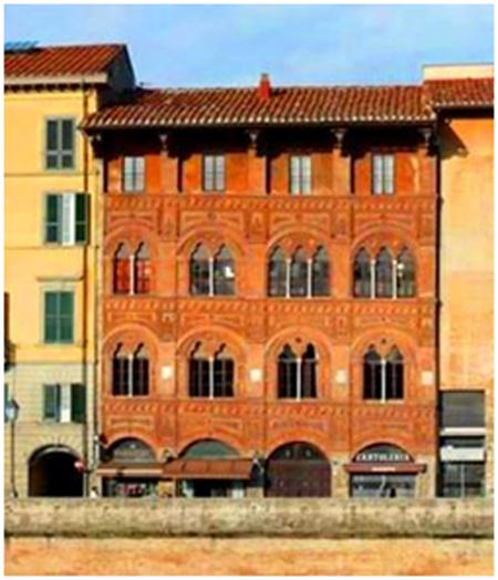 Palazzo Agostini - Palazzo gotico del XIV sec. - Sede dell'Accademia dell'Ussero dal 1959