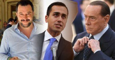 """Berlusconi """"La Lega rompe la coalizione, vuole governare con M5S ?""""."""