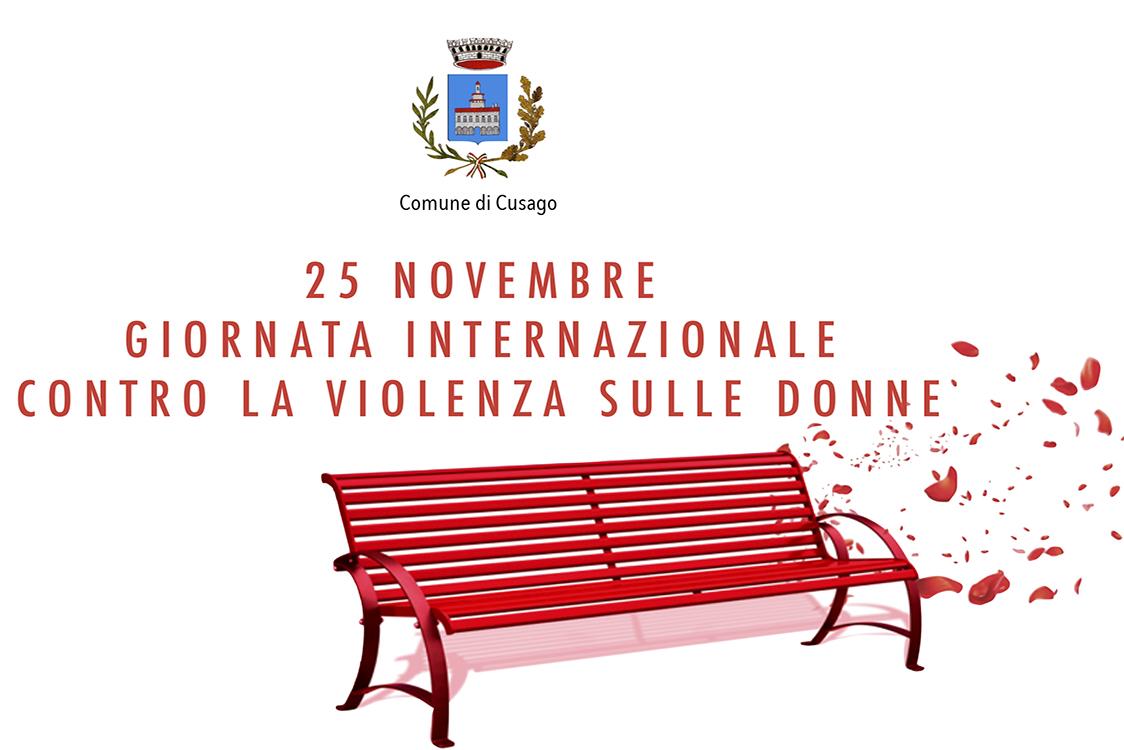 cusago inaugurazione della panchina rossa per la giornata internazionale contro la violenza sulle donne milano post violenza sulle donne
