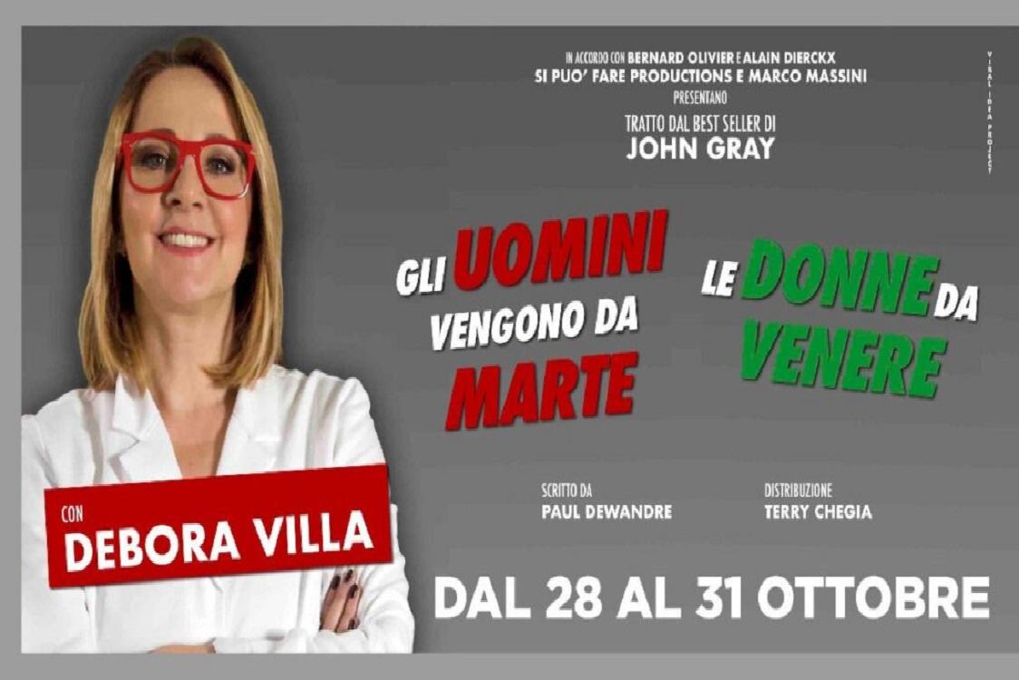 Gli uomini vengono da Marte, le donne da Venere con Debora Villa al Teatro  Manzoni dal 28 al 31 ottobre - Milano Post
